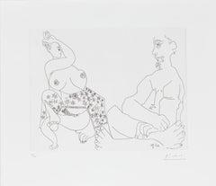 11 mai 1970 II - Original Etching by Pablo Picasso - 1970