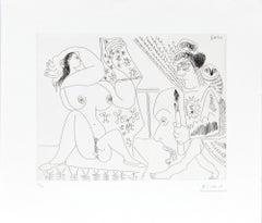 11.5.70 (11 Mai 1970) - Original Etching by P. Picasso - 1970