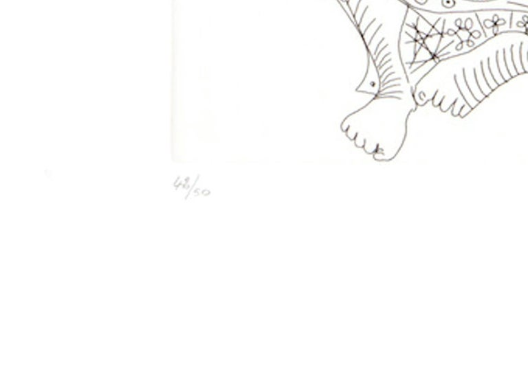 156 Series No.47 - Original Etching by P. Picasso - 1970 - Print by Pablo Picasso