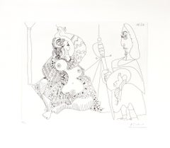 12.5.70 (12 Mai 1970) - Original Etching by P. Picasso - 1970