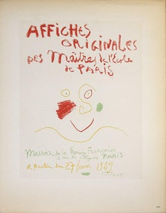 1959 Pablo Picasso 'Affiches Originales' Cubism Lithograph
