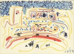 1959 Pablo Picasso 'Bullring I' Modernism France Lithograph