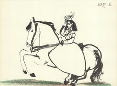 1959 Pablo Picasso 'Equestrian on Horse' Modernism France Lithograph