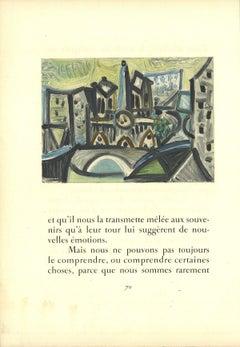 1959 After Pablo Picasso 'Le pont Dans l'Atelier' Cubism Lithograph
