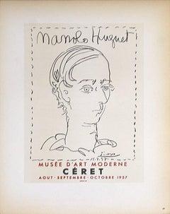 1959 Pablo Picasso 'Manolo Huguet' Cubism Black & White France Lithograph