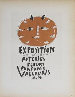 1959 After Pablo Picasso 'Poteries Fleurs Parfums I' Cubism Orange Lithograph