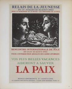 1959 After Pablo Picasso 'Relais de Jeunesse' Cubism Multicolor France