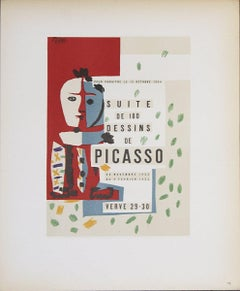 1959 After Pablo Picasso 'Suite de 180 Dessins' Cubism Multicolor Lithograph