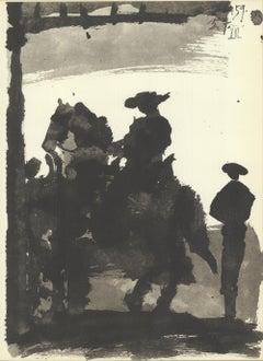 1959 Pablo Picasso 'Toros II' Modernism France Lithograph
