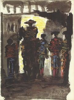 1959 Pablo Picasso 'Toros III' Modernism France Lithograph