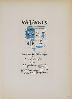 1959 Pablo Picasso 'Vallauris 10 ans de ceramique' Cubism Brown Lithograph