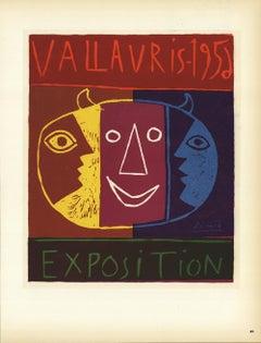 1959 Pablo Picasso 'Vallauris' Cubism Multicolor,Brown France Lithograph