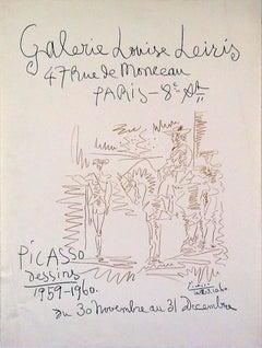1960 Pablo Picasso 'Dessins 1959-1960' Cubism Lithograph
