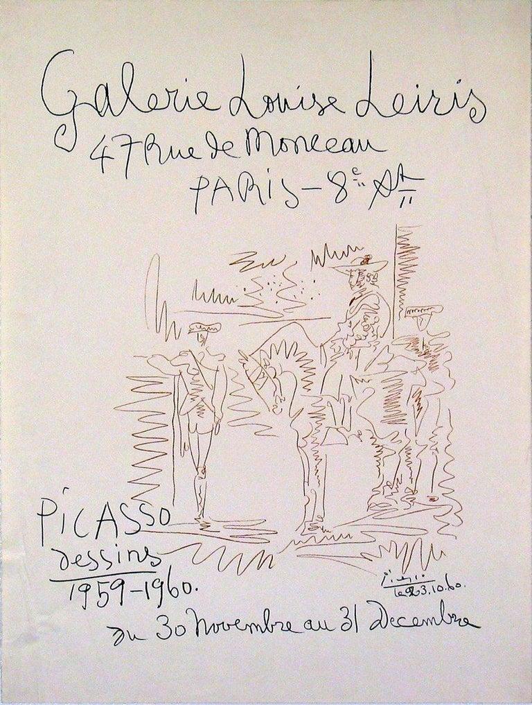 1960 Pablo Picasso 'Dessins 1959-1960' Cubism Lithograph - Print by Pablo Picasso