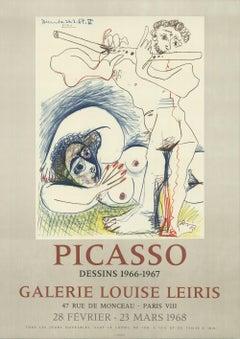 1968 After Pablo Picasso 'Dessins' Cubism France Offset Lithograph