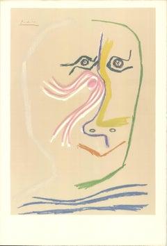 1969 After Pablo Picasso 'Portrait of Rene Char (no text)' Cubism