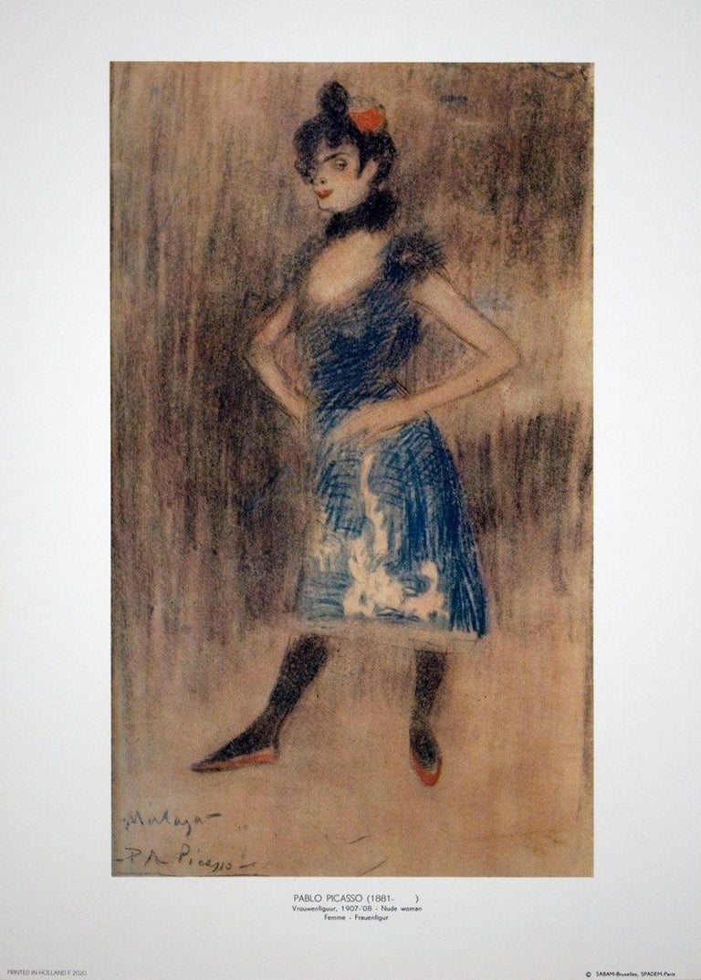 1969 After Pablo Picasso 'Woman' Cubism Multicolor France Offset Lithograph - Print by Pablo Picasso
