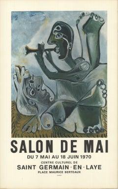 1970 After Pablo Picasso 'Salon de Mai' Cubism France Lithograph
