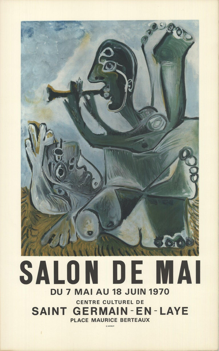 1970 After Pablo Picasso 'Salon de Mai' Cubism France Lithograph - Print by Pablo Picasso