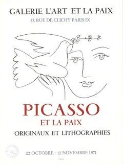 1971 After Pablo Picasso 'Galerie L'Art Et la Paix, Paris' Cubism France