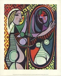 1972 After Pablo Picasso 'Girl Before Mirror' Cubism Offset Lithograph