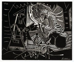 1972 Pablo Picasso 'Luncheon on the Grass (white)' Cubism Black & White USA