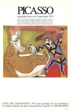 1973 After Pablo Picasso 'Fete De L'Humanite' Cubism Brown France Lithograph