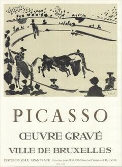 1973 After Pablo Picasso 'Oeuvre Grave La Corrida' Cubism France Lithograph
