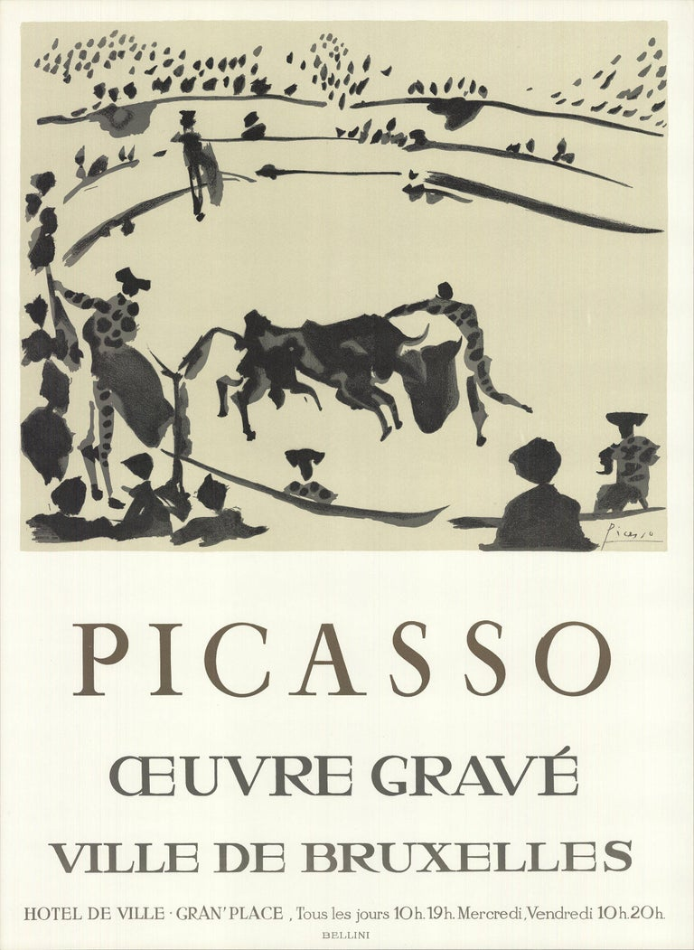 1973 After Pablo Picasso 'Oeuvre Grave La Corrida' Cubism France Lithograph - Print by Pablo Picasso