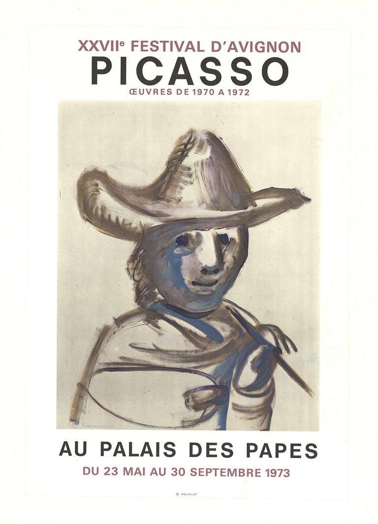 1973 After Pablo Picasso 'XXVII Festival D'Avignon' Cubism Brown France  - Print by Pablo Picasso