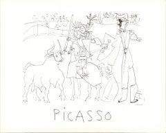 1982 Pablo Picasso 'Chevalier Picador dans l'Arene' Modernism France Lithograph