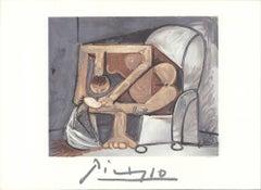 1982 Pablo Picasso 'Femme a la Toilette' cubism France Lithograph
