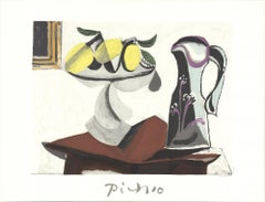 1982 Pablo Picasso 'Nature Morte au Citron et a la Cruche' Modernism France
