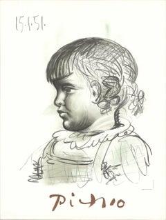 1982 Pablo Picasso 'Portrait d'Enfant' France Lithograph