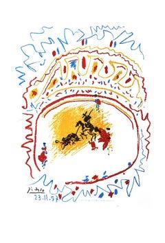 1982 Pablo Picasso 'Tauromachie (avant la lettre)' Cubism Multicolor,White
