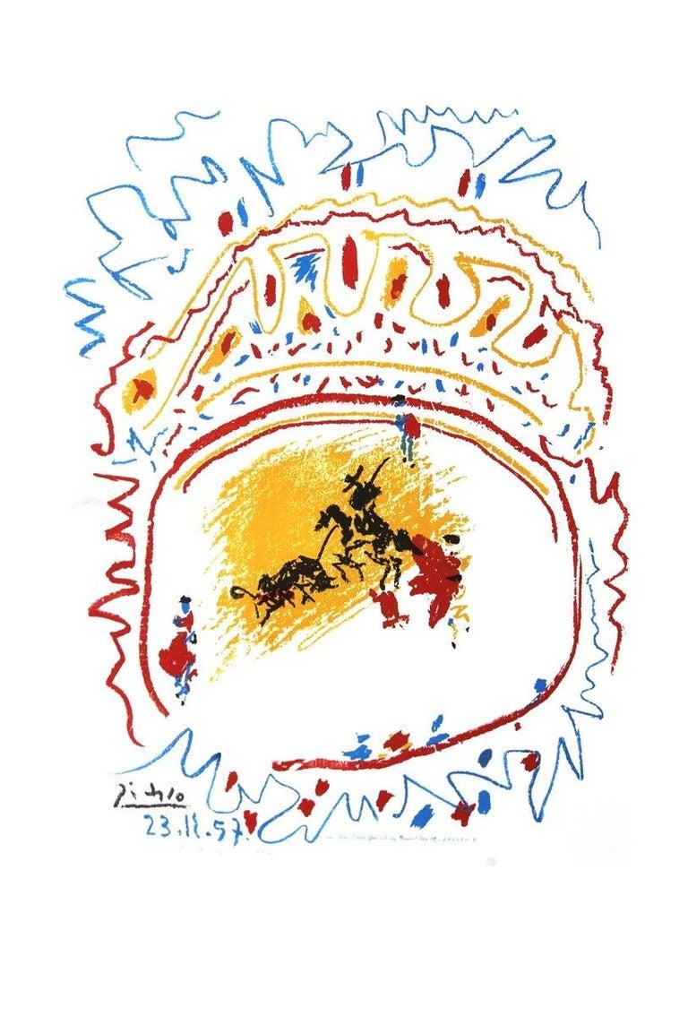 1982 Pablo Picasso 'Tauromachie (avant la lettre)' Cubism Multicolor,White  - Print by Pablo Picasso