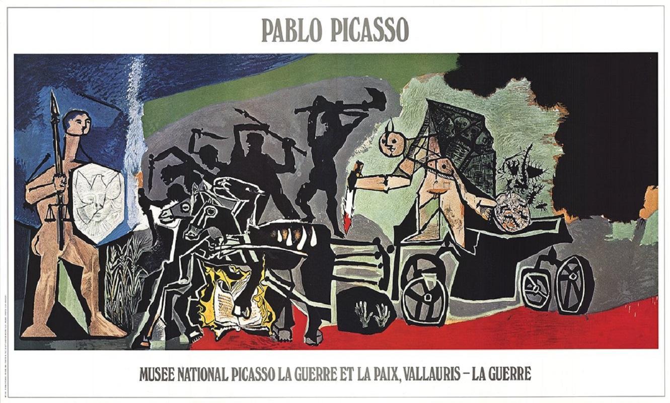 1988 After Pablo Picasso 'The War' Cubism Multicolor France Offset Lithograph