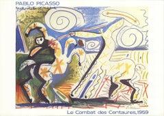 1989 After Pablo Picasso 'Le Combat des Centaures' Cubism France Lithograph