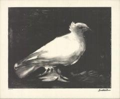 1993 Pablo Picasso 'The Little Dove' Black & White Lithograph