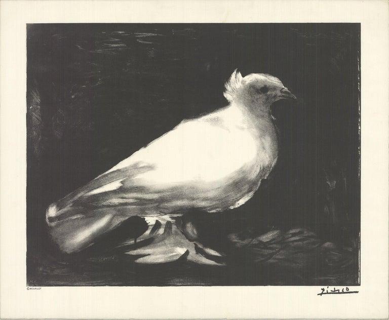 1993 Pablo Picasso 'The Little Dove' Black & White Lithograph - Print by Pablo Picasso