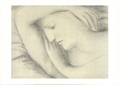 1996 After Pablo Picasso 'Femme Endormie' Cubism France Offset Lithograph