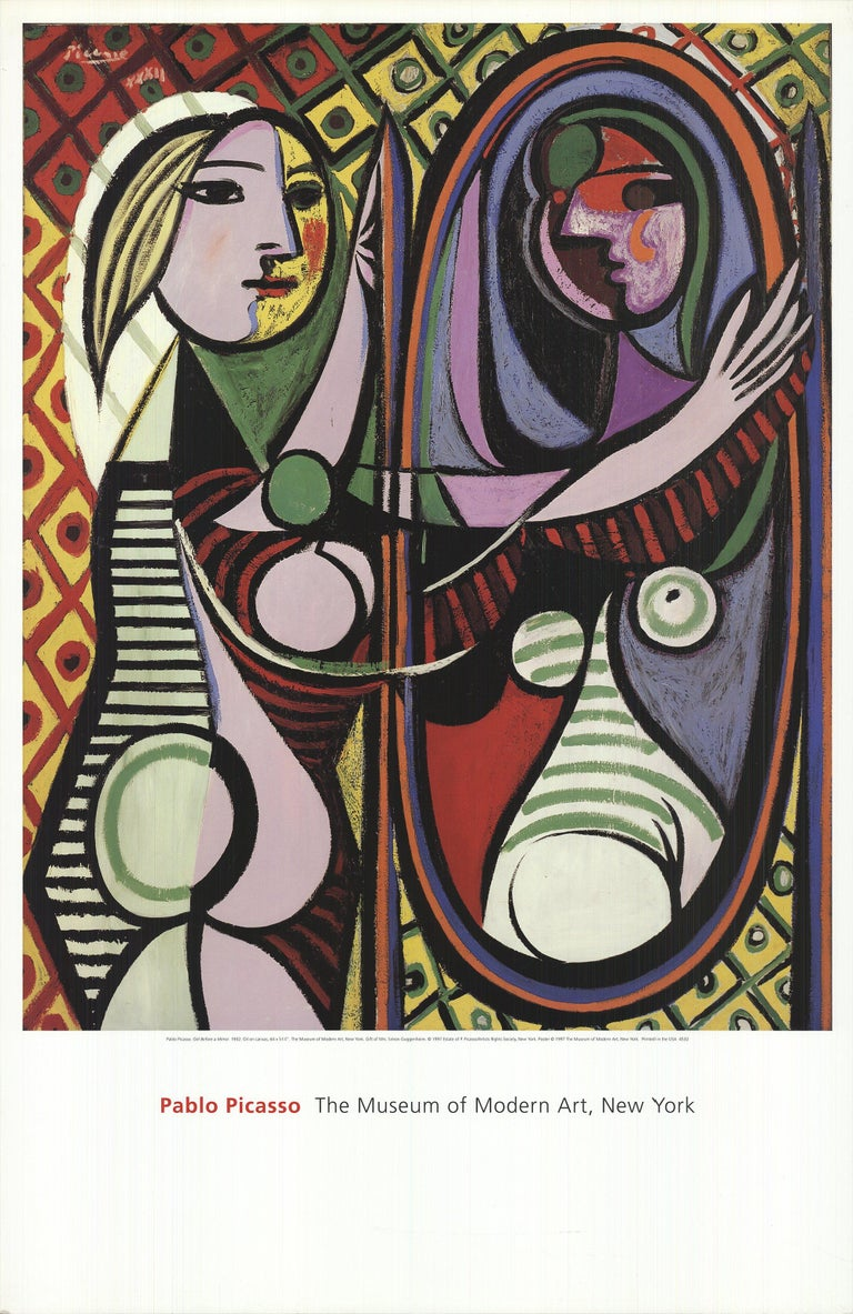 1997 Pablo Picasso 'Girl Before a Mirror' Modernism Offset Lithograph - Print by Pablo Picasso