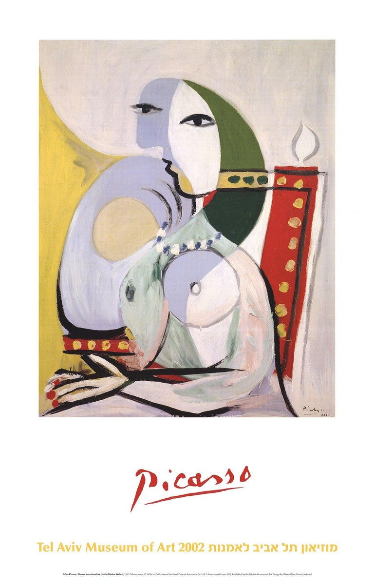 2002 After Pablo Picasso 'Woman in an Armchair' Cubism  - Print by Pablo Picasso