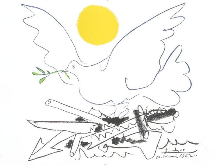 2003 Pablo Picasso 'Colombe de L'Avenir, 10-5-1962' Cubism Lithograph - Print by Pablo Picasso