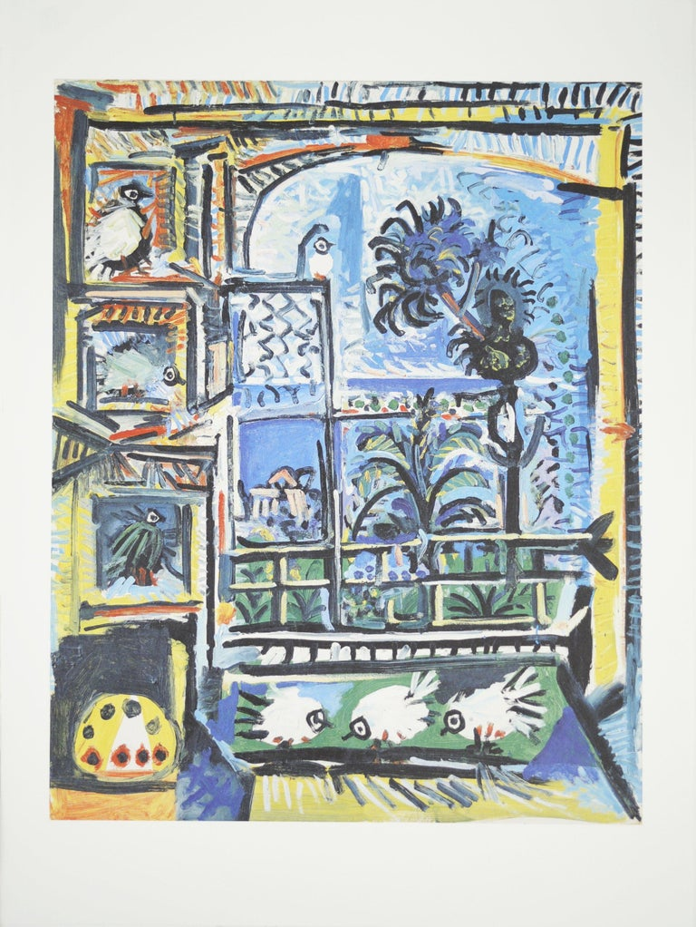 2012 Pablo Picasso 'Les Pigeons' Cubism Germany Offset Lithograph - Print by Pablo Picasso