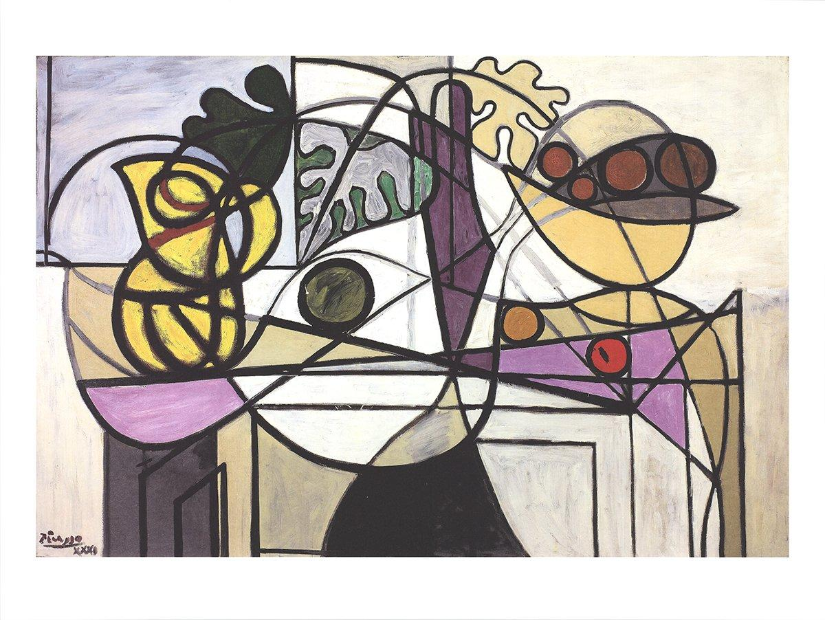 2016 Pablo Picasso 'Pitcher and Fruit Bowl' Cubism Multicolor Germany Offset Lit
