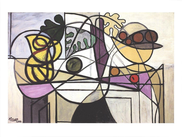 2016 Pablo Picasso 'Pitcher and Fruit Bowl' Cubism Multicolor Germany Offset Lit - Print by Pablo Picasso