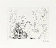 23.5.70 (25 Mai 1970) - Original Etching by P. Picasso - 1970