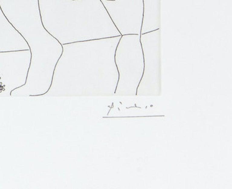 24.5.70 (24 Mai 1970) - Original Etching by P. Picasso - 1970 - Print by Pablo Picasso