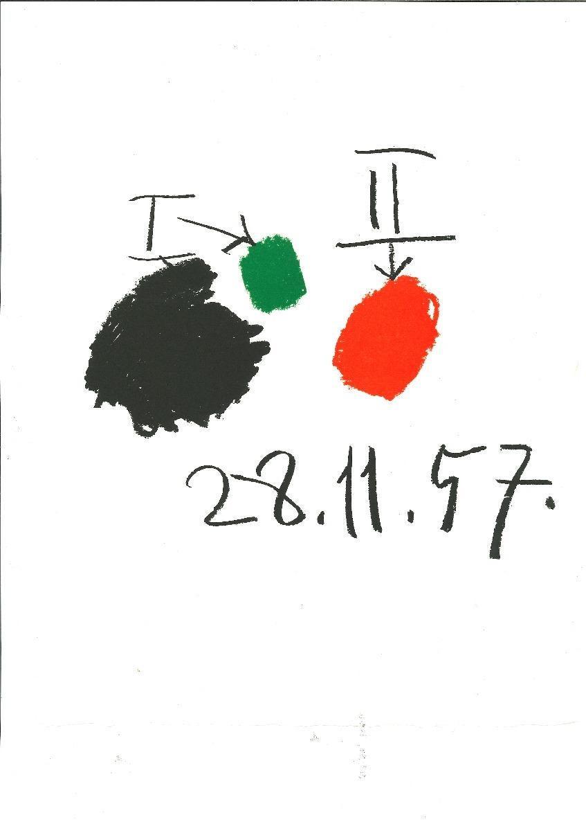 28.11.57 from A même la pierre - Lithograph after Pablo Picasso - 1982